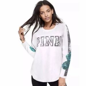 PINK Tropical Bling Long Sleeve